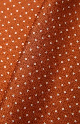 Мужской шелковый платок KITON оранжевого цвета, арт. UP0CHCX07T03 | Фото 2