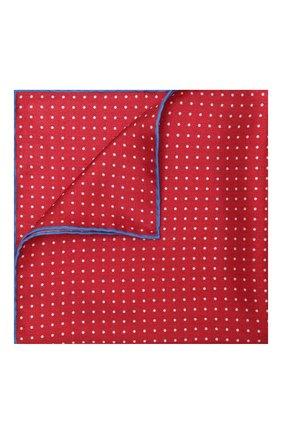 Мужской шелковый платок KITON красного цвета, арт. UP0CHCX07T03 | Фото 1