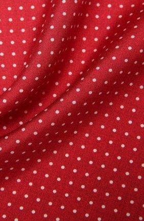 Мужской шелковый платок KITON красного цвета, арт. UP0CHCX07T03 | Фото 2