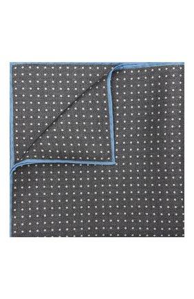 Мужской шелковый платок KITON серого цвета, арт. UP0CHCX07T03 | Фото 1