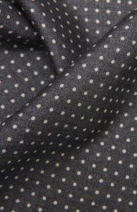 Мужской шелковый платок KITON серого цвета, арт. UP0CHCX07T03 | Фото 2