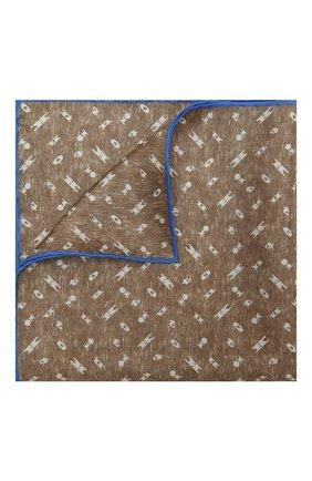 Мужской шелковый платок KITON бежевого цвета, арт. UP0CHCX07T03 | Фото 1