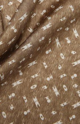 Мужской шелковый платок KITON бежевого цвета, арт. UP0CHCX07T03 | Фото 2