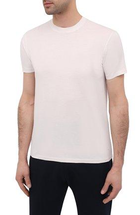 Мужская футболка TOM FORD кремвого цвета, арт. BW229/TFJ950 | Фото 3 (Принт: Без принта; Рукава: Короткие; Длина (для топов): Стандартные; Материал внешний: Хлопок, Лиоцелл; Стили: Кэжуэл)