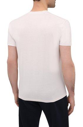 Мужская футболка TOM FORD кремвого цвета, арт. BW229/TFJ950 | Фото 4 (Принт: Без принта; Рукава: Короткие; Длина (для топов): Стандартные; Материал внешний: Хлопок, Лиоцелл; Стили: Кэжуэл)