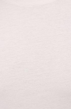 Мужская футболка TOM FORD кремвого цвета, арт. BW229/TFJ950 | Фото 5 (Принт: Без принта; Рукава: Короткие; Длина (для топов): Стандартные; Материал внешний: Хлопок, Лиоцелл; Стили: Кэжуэл)
