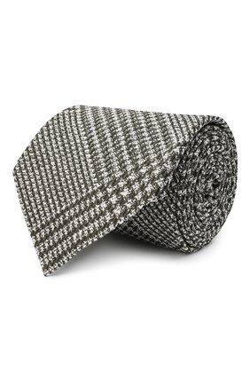 Мужской шелковый галстук TOM FORD серого цвета, арт. 9TF53/XTF | Фото 1 (Материал: Шелк, Текстиль; Принт: С принтом)