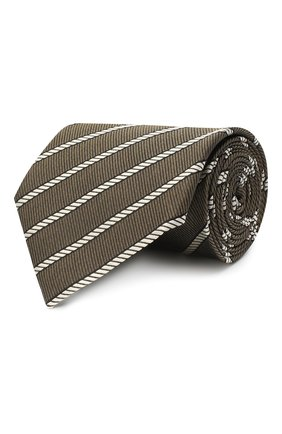 Мужской шелковый галстук TOM FORD хаки цвета, арт. 9TF32/XTF | Фото 1