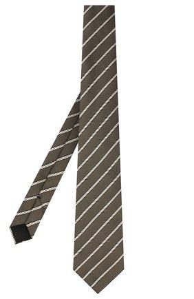 Мужской шелковый галстук TOM FORD хаки цвета, арт. 9TF32/XTF | Фото 2
