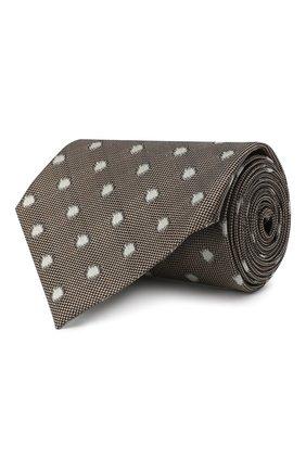 Мужской шелковый галстук TOM FORD темно-бежевого цвета, арт. 9TF26/XTF | Фото 1