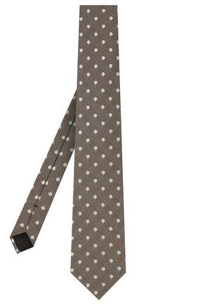 Мужской шелковый галстук TOM FORD темно-бежевого цвета, арт. 9TF26/XTF | Фото 2