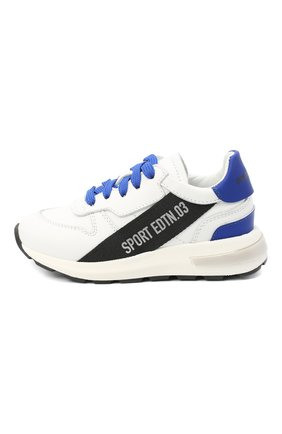 Детские кожаные кроссовки DSQUARED2 белого цвета, арт. 66934/KIPS/GUM/18-27 | Фото 2