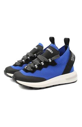 Детские кроссовки DSQUARED2 синего цвета, арт. 66936/T0MAIA/CR0STA/SCUBA/18-27 | Фото 1