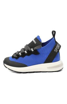 Детские кроссовки DSQUARED2 синего цвета, арт. 66936/T0MAIA/CR0STA/SCUBA/18-27 | Фото 2