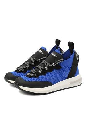 Детские кроссовки DSQUARED2 синего цвета, арт. 66936/T0MAIA/CR0STA/SCUBA/36-41 | Фото 1