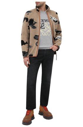 Мужская куртка LOEWE бежевого цвета, арт. H526330X64 | Фото 2