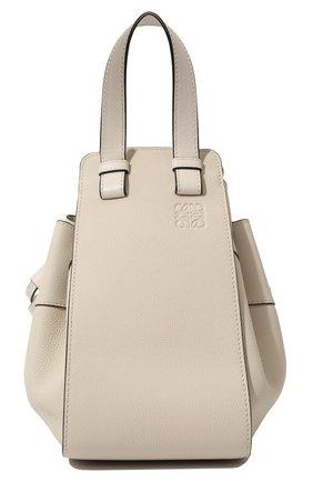 Женская сумка hammock small LOEWE белого цвета, арт. 314.12.Z95 | Фото 1 (Материал: Натуральная кожа; Ремень/цепочка: На ремешке; Размер: small; Сумки-технические: Сумки через плечо, Сумки top-handle)