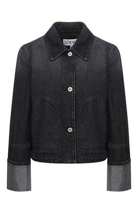 Женская джинсовая куртка LOEWE черного цвета, арт. S359330XBN | Фото 1