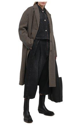 Женская джинсовая куртка LOEWE черного цвета, арт. S359330XBN | Фото 2
