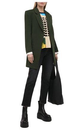 Женские джинсы LOEWE черного цвета, арт. S359331XB2 | Фото 2