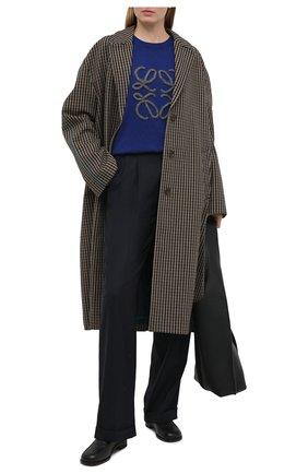 Женский шерстяной пуловер LOEWE синего цвета, арт. S359333XAZ   Фото 2