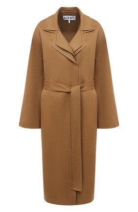 Женское шерстяное пальто LOEWE бежевого цвета, арт. S359336XBF | Фото 1