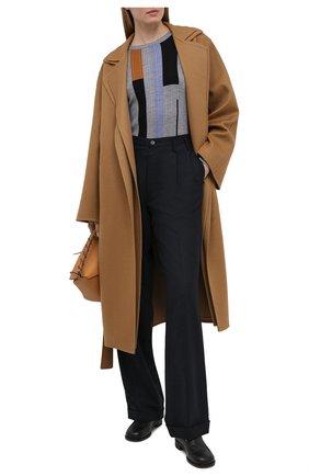 Женское шерстяное пальто LOEWE бежевого цвета, арт. S359336XBF | Фото 2