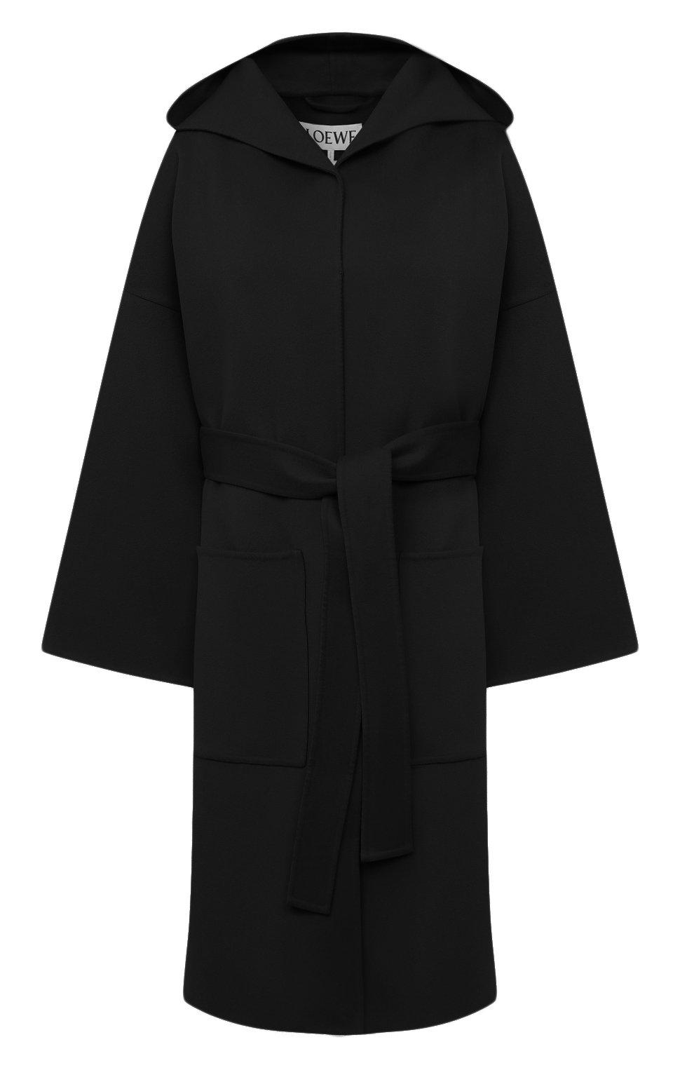 Женское шерстяное пальто LOEWE черного цвета, арт. S359336XCH   Фото 1