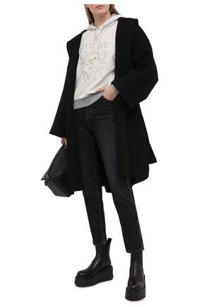 Женское шерстяное пальто LOEWE черного цвета, арт. S359336XCH | Фото 2