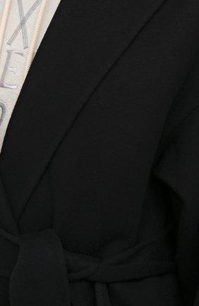Женское шерстяное пальто LOEWE черного цвета, арт. S359336XCH   Фото 5