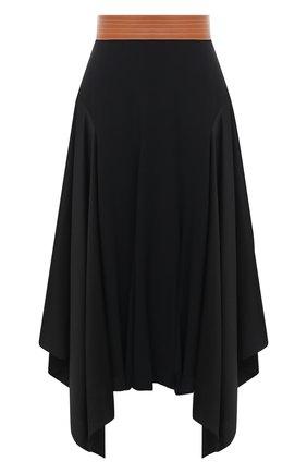 Женская юбка LOEWE черного цвета, арт. S359344XCB | Фото 1