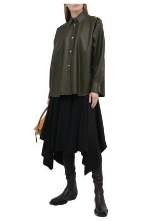 Женская юбка LOEWE черного цвета, арт. S359344XCB | Фото 2