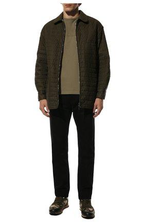 Мужские комбинированные кроссовки rockrunner VALENTINO хаки цвета, арт. VY2S0723/NJE   Фото 2 (Материал внешний: Текстиль; Подошва: Массивная; Материал утеплителя: Натуральный мех; Стили: Гранж)