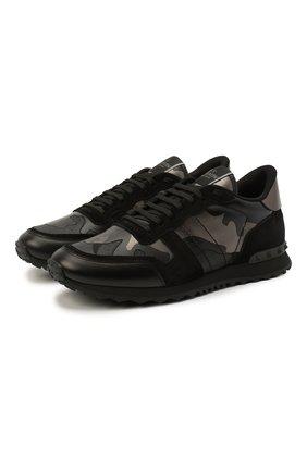 Комбинированные кроссовки Rockrunner Valentino Garavani | Фото №1