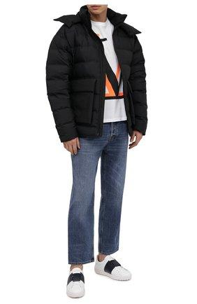 Мужские кожаные кеды open VALENTINO белого цвета, арт. VY2S0830/BLU   Фото 2 (Подошва: Массивная; Материал внутренний: Натуральная кожа)