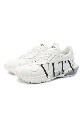 Мужские кожаные кроссовки bounce VALENTINO белого цвета, арт. VY2S0B21/RKW | Фото 1