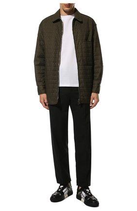 Мужские кожаные кеды vl7n VALENTINO черно-белого цвета, арт. VY2S0C58/WRQ | Фото 2