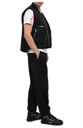 Мужские кожаные кеды vl7n VALENTINO черного цвета, арт. VY2S0E03/WRQ   Фото 2 (Материал внутренний: Натуральная кожа; Подошва: Массивная)