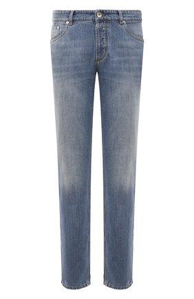 Мужские джинсы BRUNELLO CUCINELLI голубого цвета, арт. M0Z37B2210 | Фото 1