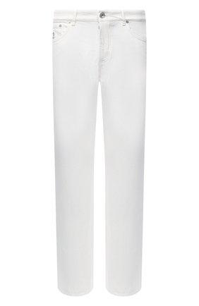 Мужские джинсы BRUNELLO CUCINELLI белого цвета, арт. M262PB2210 | Фото 1