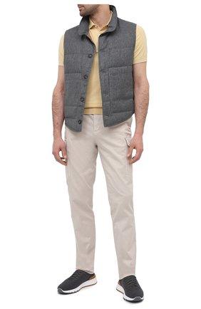 Мужские хлопковые брюки-карго BRUNELLO CUCINELLI бежевого цвета, арт. M289LE1890 | Фото 2