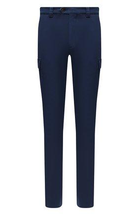 Мужские хлопковые брюки-карго BRUNELLO CUCINELLI синего цвета, арт. M289LE1890 | Фото 1 (Материал внешний: Хлопок; Длина (брюки, джинсы): Стандартные; Случай: Повседневный; Силуэт М (брюки): Карго; Стили: Кэжуэл)