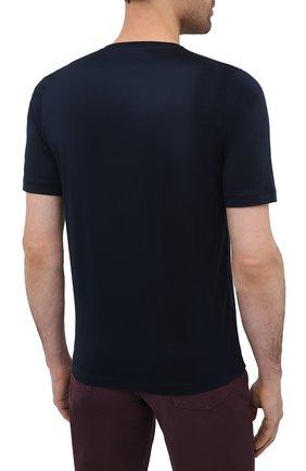 Мужская хлопковая футболка ZILLI темно-синего цвета, арт. MBU-NT305-LI0N1/MC01   Фото 4
