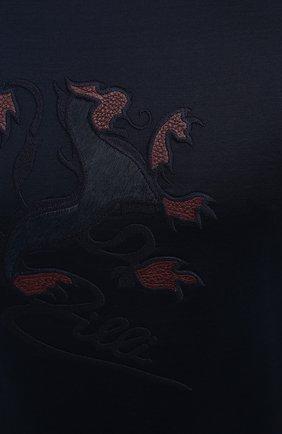 Мужская хлопковая футболка ZILLI темно-синего цвета, арт. MBU-NT305-LI0N1/MC01   Фото 5