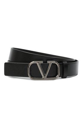 Мужской кожаный ремень valentino garavani VALENTINO черного цвета, арт. VY2T0Q90/AZR | Фото 1