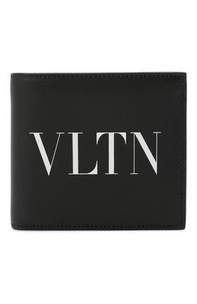 Мужской кожаное портмоне valentino garavani VALENTINO черно-белого цвета, арт. VY2P0654/LVN | Фото 1