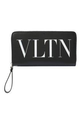 Мужской кожаное портмоне valentino garavani VALENTINO черно-белого цвета, арт. VY2P0570/LVN | Фото 1