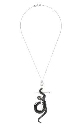 Женская кулон на цепочке hunger DZHANELLI черного цвета, арт. 0914 | Фото 1