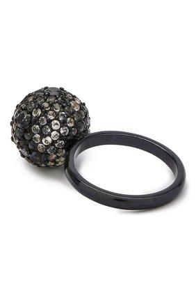 Женское кольцо DZHANELLI черного цвета, арт. 0723 | Фото 2