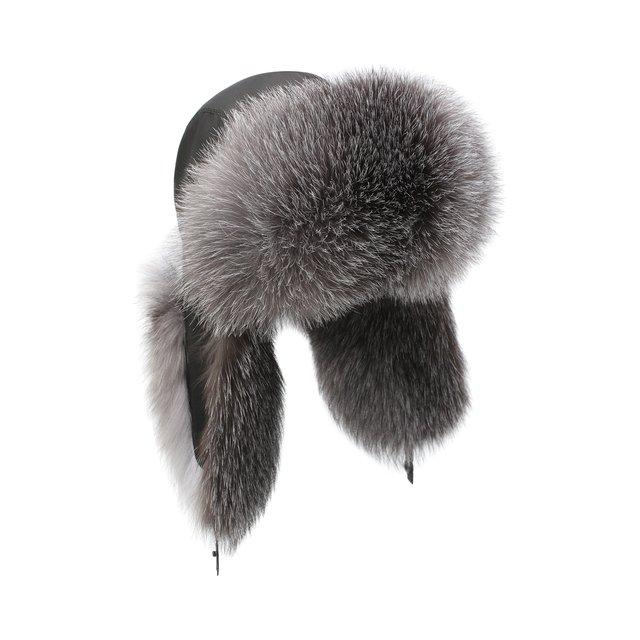 Шапка-ушанка из меха лисы Kussenkovv